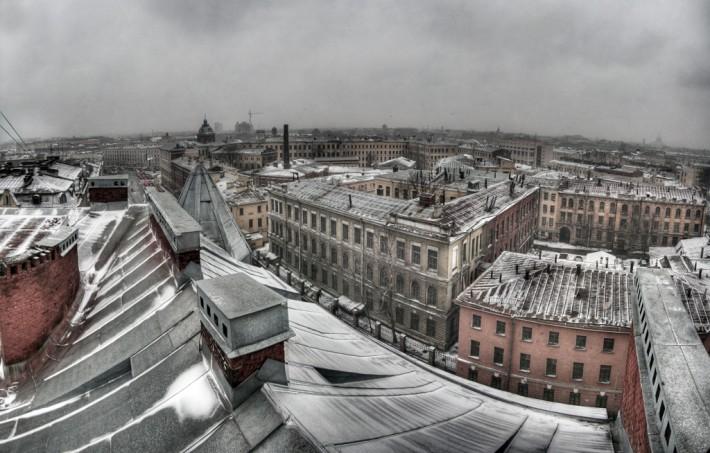 Вид с крыши одного из домов