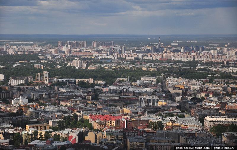 Вид на север. Петроградская сторона