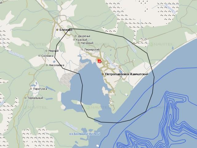 Карта Петропавловска-Камчатского
