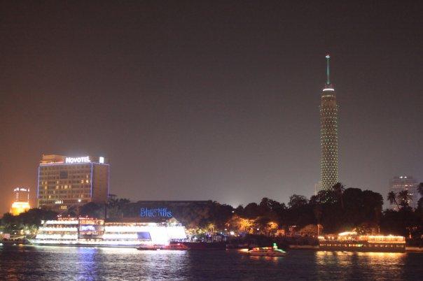 Вид на Нил и ночной Каир