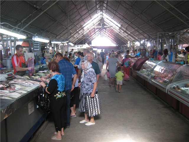 Темрюк. Рыбный рынок