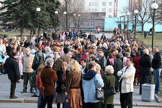 Митинг обманутых дольщиков у префектуры ВАО, 2006 г.