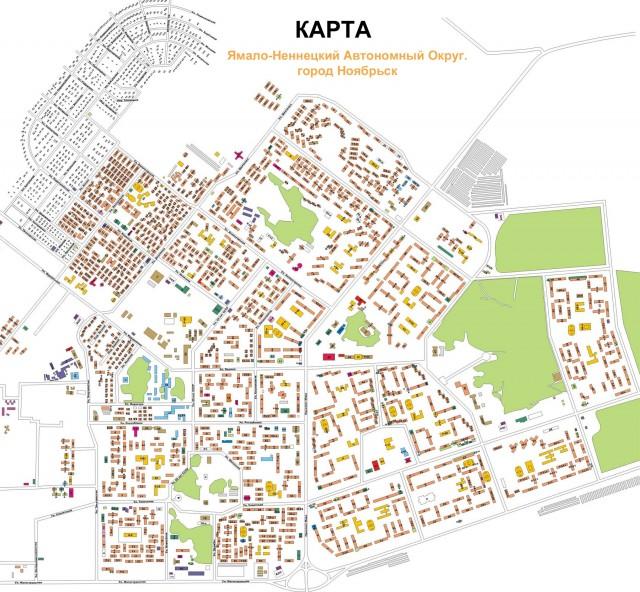 Карта Ноябрьска