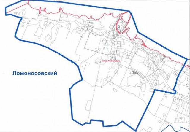 Карта Петродворцового района