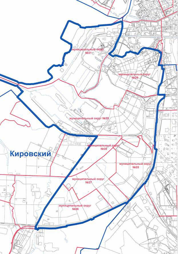 Карта Кировского района СПБ