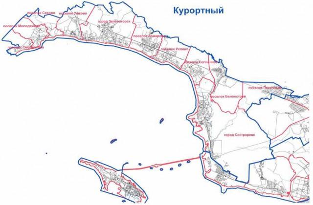 муниципальное разделение Курортного района