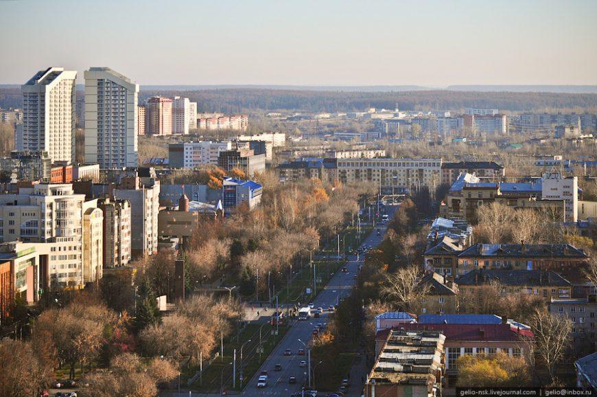 Улица Сибирская. Вид на юг