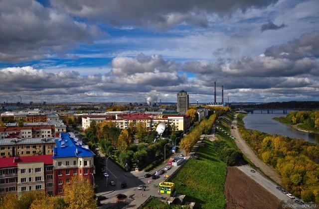 Пересечение ул. Арочной, Красной и Притомской набережной