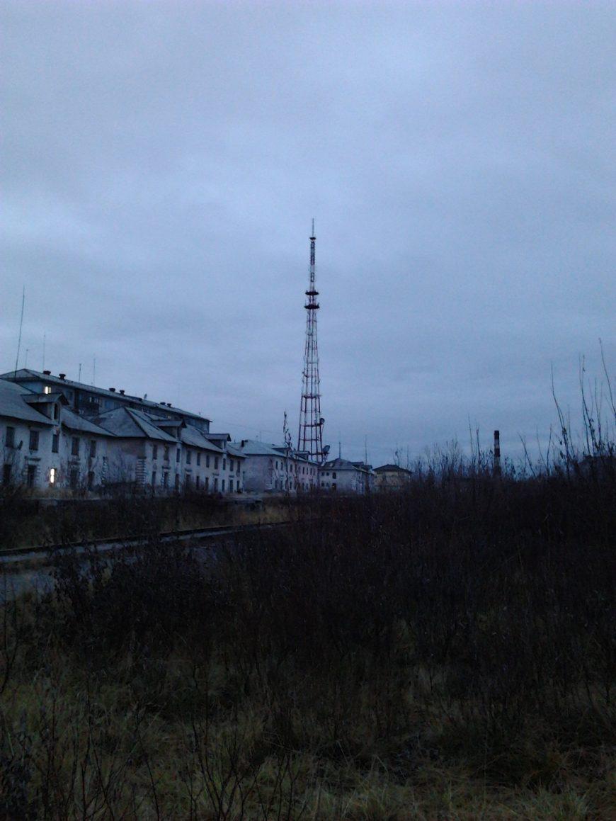 Вид на телецентр с улицы Лермонтова