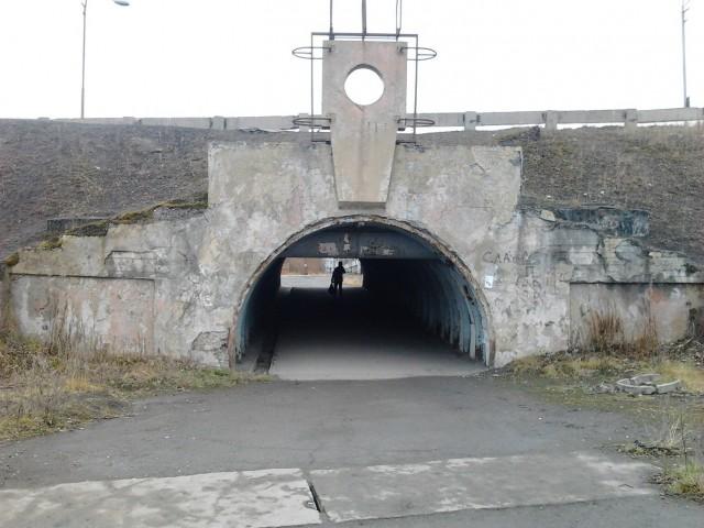 Подземный переход под дамбой (ул.Ленинградская). Единственный в республике Коми