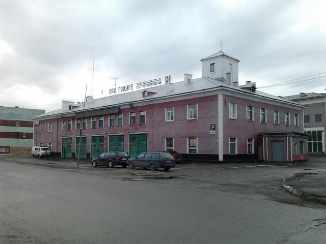 Пожарная часть на улице Пушкина
