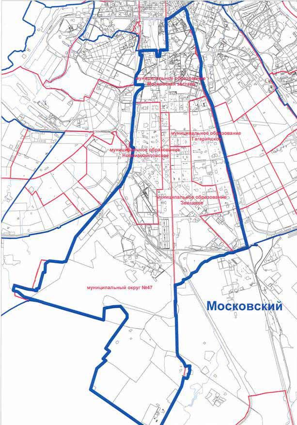 Карта Московского района