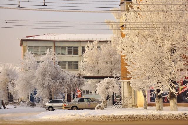 Ленинск-Кузнецкий. Зима