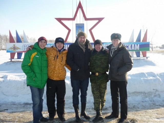 Томская зима. Я - крайний слева