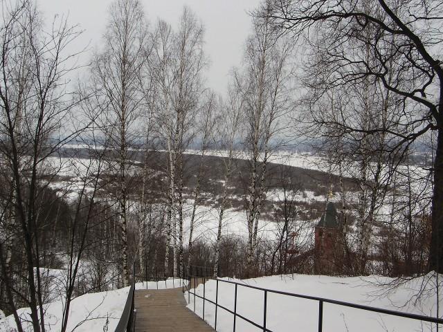 Зимний вид из Дудинского монастыря
