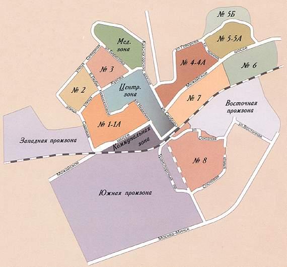 Карта районов города Одинцово
