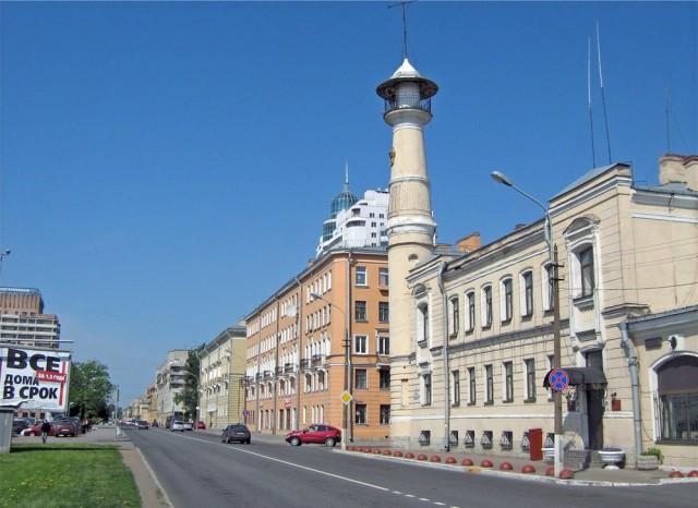 Пожарная каланча на Большеохтинском