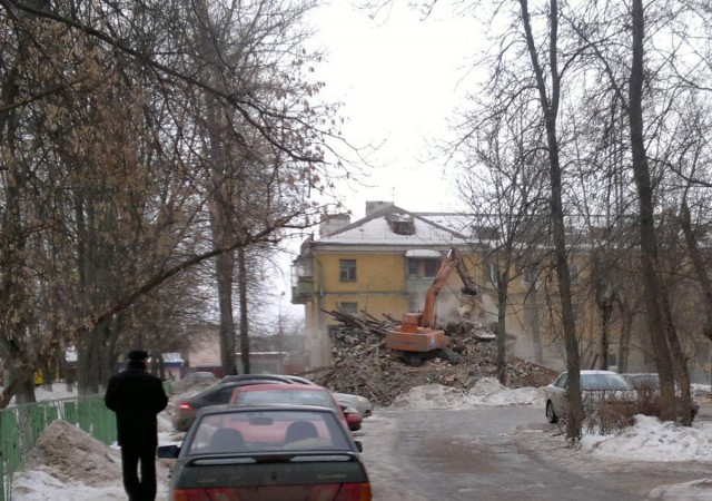 Снос ветхого жилья в Шепчинках
