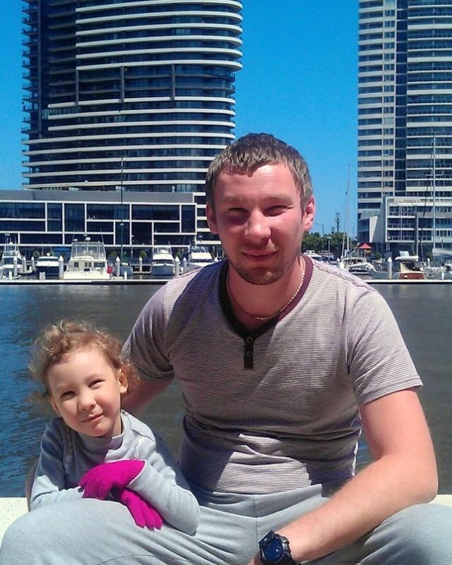 Александр Антощенко с дочерью Анной