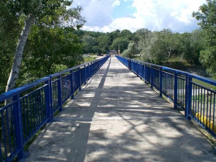 Район Заречье, новый мост через речку Псекупс