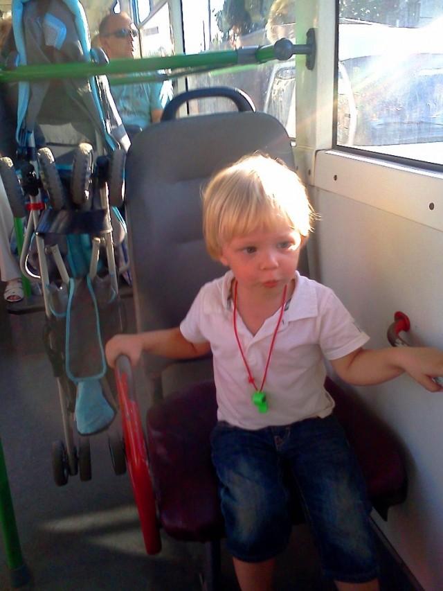 Любимый вид транспорта у ребенка – общественный. Ну, а чего его не любить, когда передвигаешься с таким комфортом
