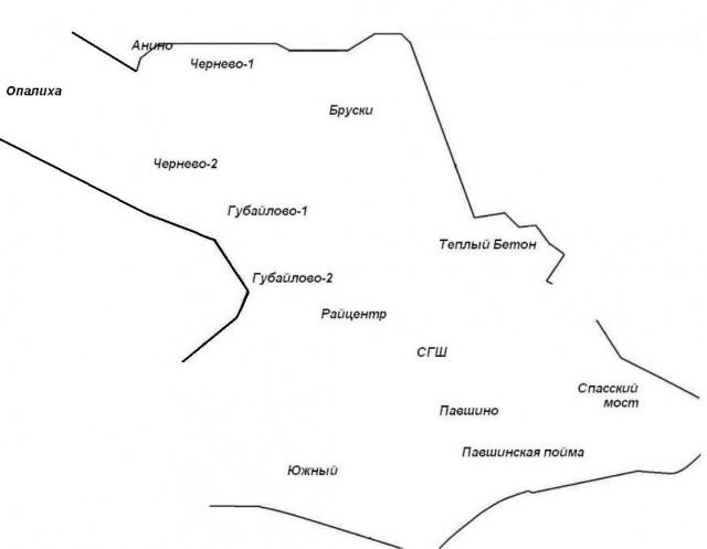 Карта Красногорска
