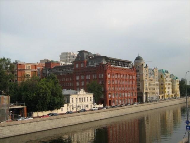 Вид на дома Замоскворечья