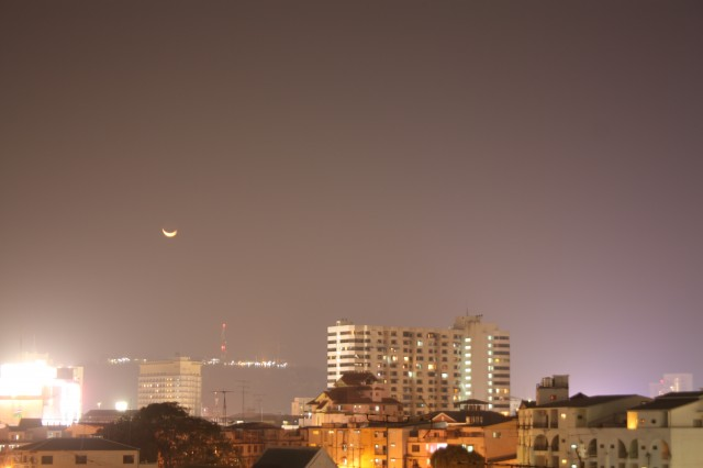 Вид на ночную Паттайю из моего окна