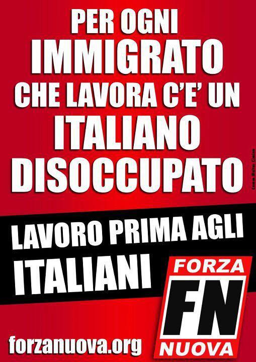 На каждого работающего иммигранта приходится безработный итальянец РАБОТУ СНАЧАЛА ИТАЛЬЯНЦАМ