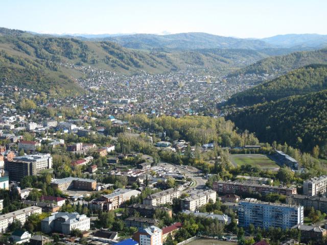 Горно-Алтайск с высоты птичьего полета