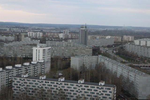 Район г. Набережные Челны с высоты 15го этажа
