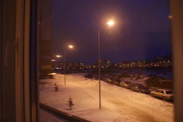 Вид из окна. Ночная Мещера