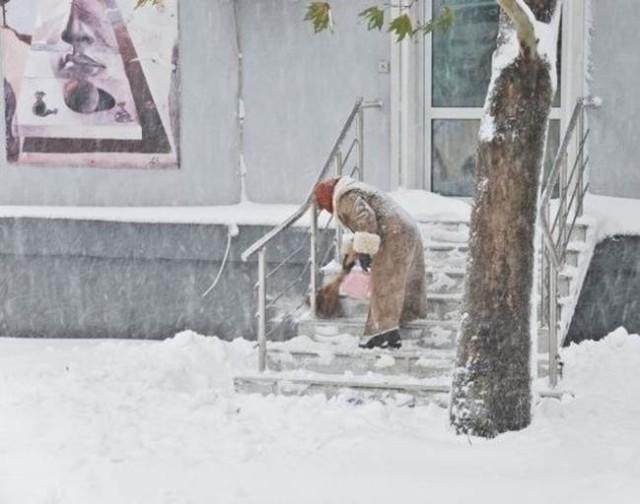 Сильный снег - большая редкость. Но случается