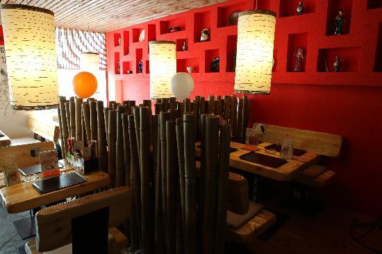 Экзотическое убранство ресторана Тануки