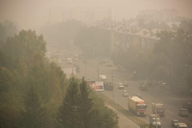 И дым Отечества нам сладок и приятен. Смог над городом во время лесных пожаров в области