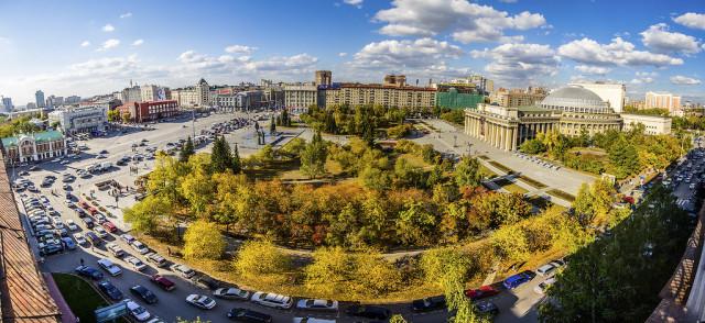 Площадь Ленина. Главное место города