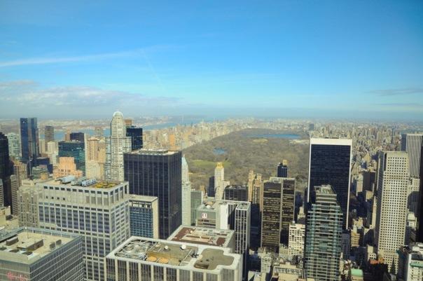Вид с площадки Рокфеллер центра, 110 этаж