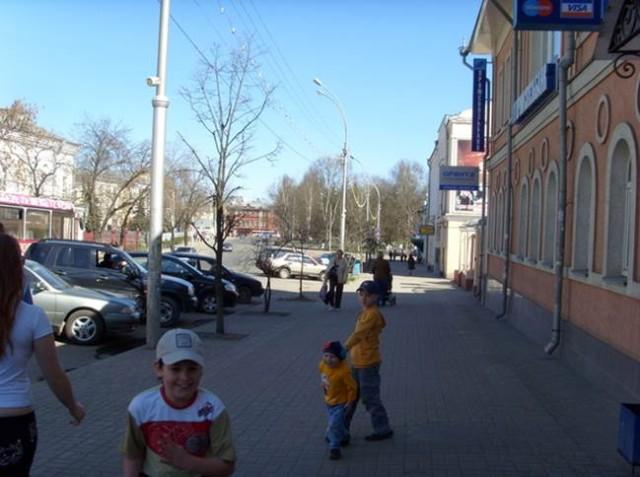 Одна из улиц в Центре - ул. Ленина
