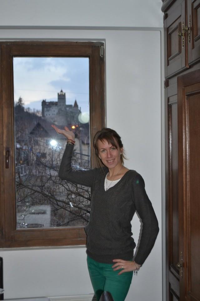 Вид на замок Бран