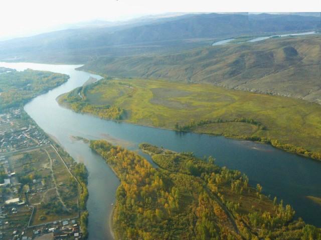 точка слияния рек Бий-Хем (Большого Енисея) и Каа-Хем (Малого Енисея)