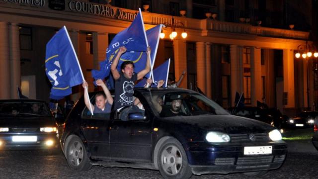 Празднуем победу партии «Грузинская мечта»