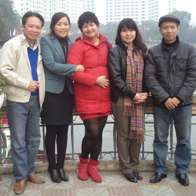 Мы ездили в Пекин. Там тоже бывает холодно