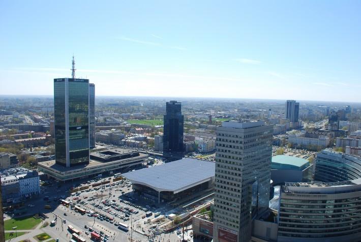 Центр Варшавы. Отель Мариотт