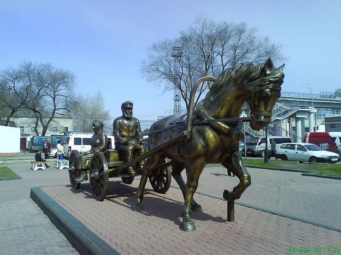 Памятник еврейским переселенцам в Биробиджане