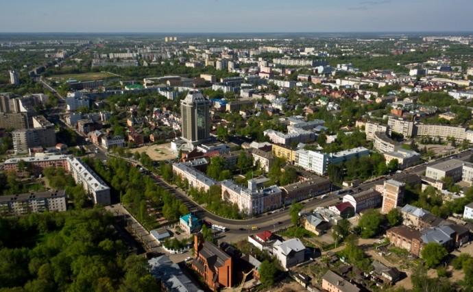 Тверь — большой и зеленый город преимущественно со старой застройкой