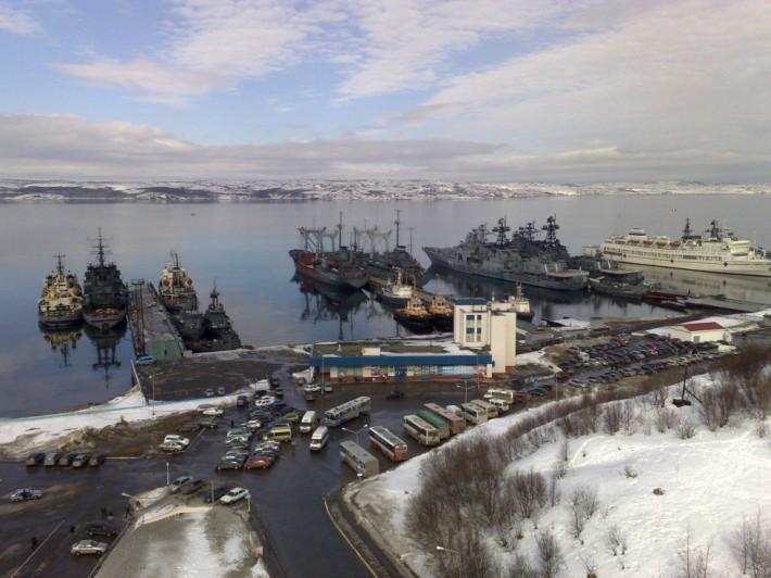 Корабли в Североморске — на страже рубежей нашей Родины