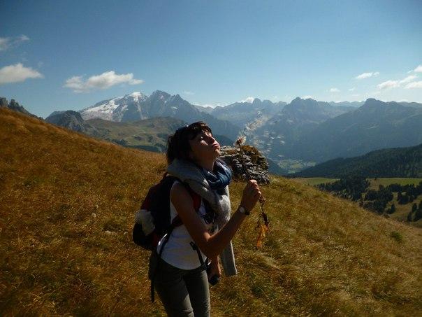 Доломитовые Альпы, те самые, что видно из нашего окна