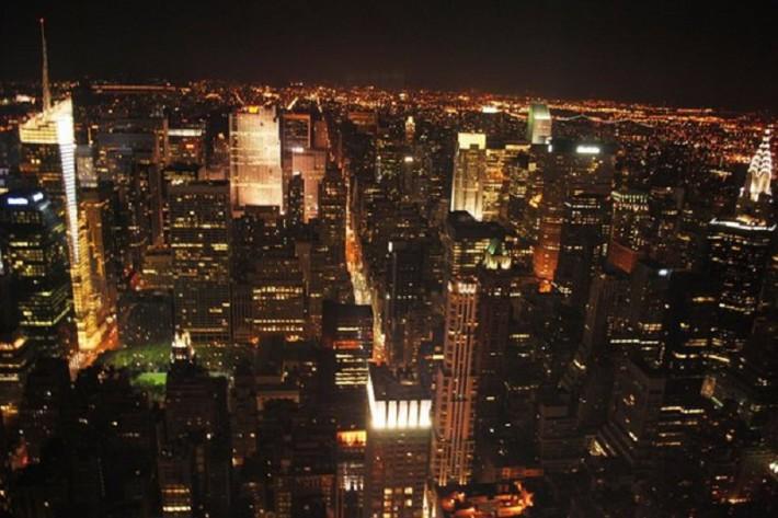 Вид с Empire state building, Нью-Йорк