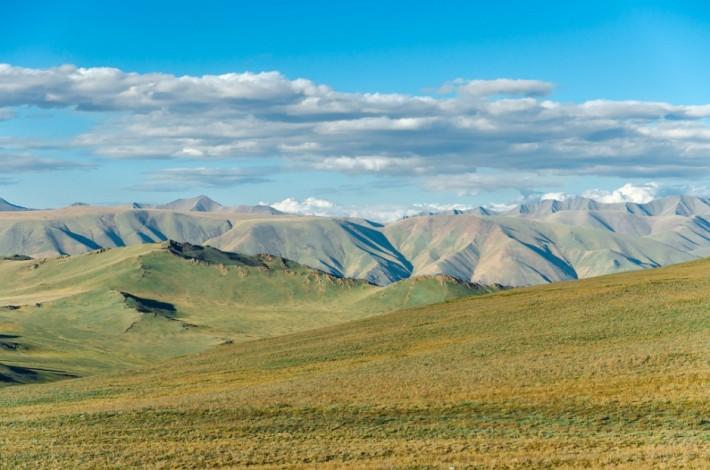 Типичный тувинский пейзаж