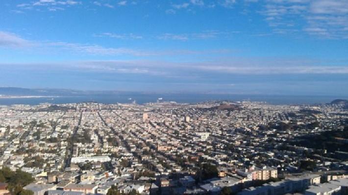 Вид на Сан-Франциско с горы Твин Пикс